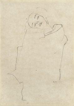 Egon Schiele - Girl With Head Tilted, 1910