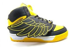 Adidas Jeremy Scott Wings Yellow and Black Trainers Adidas Jeremy Scott Wings, Yellow Sneakers, Wing Shoes, Lil Boy, Black N Yellow, My Boyfriend, Trainers, Kicks, Swag