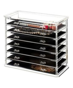 Look at this #zulilyfind! Clear Jewelry & Makeup Organizer #zulilyfinds