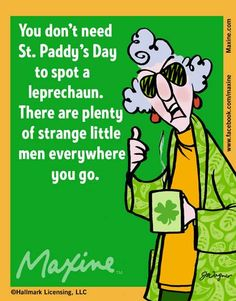 spot a leprechaun | Maxine comic for 2014-03-13