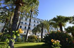 Royal Hotel Sanremo - Sanremo, Italy : The Leading Hotels of the World Luxury Hotel Design, Local Seafood, Leading Hotels, Rose Leaves, Art Nouveau Architecture, Grand Hotel, Park, The Locals, Travel Inspiration