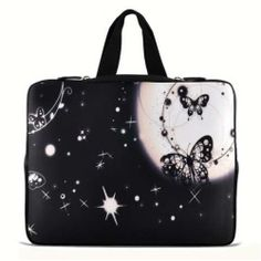 "Fantasy Butterfly 17.1"" 17.3"" inch Laptop Bag Sleeve Case with Hidden Handle for Apple MacBook pro 17/Dell Inspiron 17R Alienware M17x/Samsung 700 Sony Vaio E 1"