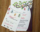Mason Jar Tree Wedding Invitation (Sample)
