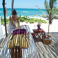 Seaside massage at Maya Spa, Tulum