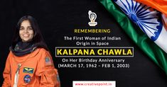 Tribute to the Indo-American Astronaut, the first woman of Indian origin in space- Kalpana Chawla on her birth anniversary. Best Digital Marketing Company, Digital Marketing Services, Online Marketing, Social Media Marketing, Indian Astronauts, Isro India, Friendship Sms, Funny Sms, Love Sms