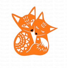 Foxes cuddling SVG PNG DXF digital cutting file/folk style fox svg/fox svg/fox mandala/woodland animal/fox papercutting template - Trend Design Home App 2019 Fuchs Silhouette, Animal Silhouette, Silhouette Studio, Paper Art, Paper Crafts, Cute Fox, Folk Fashion, Silhouette Cameo Projects, Cricut Creations