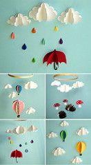 Decoração: Móbile de papel dimensional | Achei aqui www.etsy… | Flickr