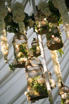 Garlands and birdcages