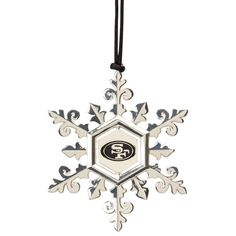 San Francisco 49ers Pewter Snowflake Ornament