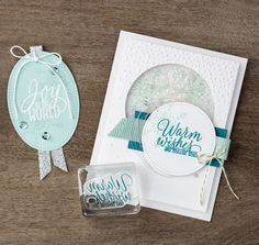 Cute card from Stampin Up featuring Stitched Shapes Framelits dies & stamps from Tin of Tags #sarahsinkspot #stampinup #stitchedframelits #stitchedwithlove #stitchedshapes #tinoftags #paperstitch #stitchedpaper