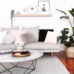 GlobeWest Como Coffee Table and Vittoria Iris Modular Sofa. Image: @michelle_baskinteriors #globewest #furniture #livingroom #interiordesign