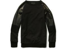Alexander-McQueen-Degrade-Leather-Sleeved-Cotton-Sweatshirt-01