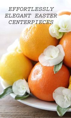 9 Effortlessly-Elegant Easter Centerpieces | Martha Stewart Living - A beautiful centerpiece is all you need to create a gorgeous Easter table setting. To create an Easter centerpiece, start by shopping your own home. Think outside your standard vase: Baskets, drink glasses, trays, plates and cake pedestals are just a few of my favorite vessels to work with.