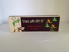 Vintage Come And Get It Barbecue And Fireplace Safety Matches Long Matches by Reese on Etsy, $9.50