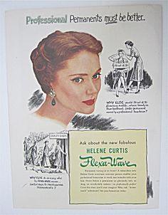 1950 Helene Curtis Flexa Wave With Woman