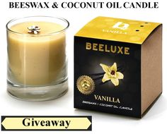 Giveaway: Beeswax & Coconut Oil Candle ($21 Value)