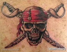 ... Photos - Skull And Flower Pirate Tattoo Pirate Skull Tattoo Pirate Old