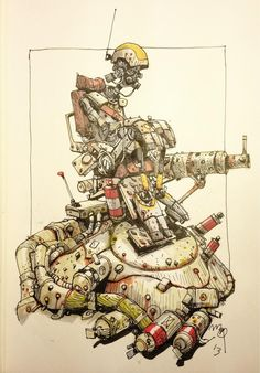 Twitter / ianmcque: Robogunner #inktober ... ★ || CHARACTER DESIGN REFERENCES (www.facebook.com/CharacterDesignReferences & pinterest.com/characterdesigh) • Do you love Character Design? Join the Character Design Challenge! (link→ www.facebook.com/groups/CharacterDesignChallenge) Share your unique vision of a theme every month, promote your art, learn and make new friends in a community of over 16.000 artists who share your same passion! || ★