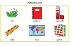 material escolar pictograma - Buscar con Google Advent Calendar, Holiday Decor, Google, Home Decor, Pictogram, School Supplies, Jelly Beans, Decoration Home, Room Decor