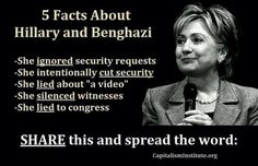Hillary and Benghazi   TRAITOR.. and just a vulgar bitch in general.