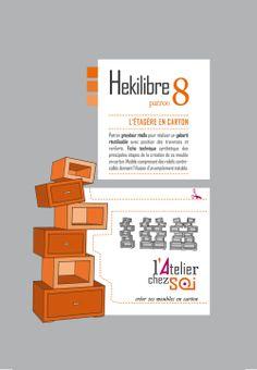 Patron pour fabriquer soi-même une étagère en carton. http://www.collection-carton.fr/category.php?id_category=71
