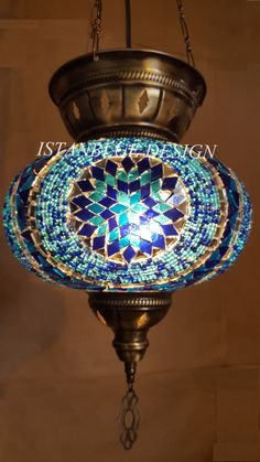 Colorful Turkish Mosaic Lamp Large Globe by IstanblueDesign