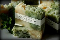PEPPERMINT Handmade Natural Soap by WantLess on Etsy