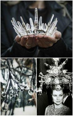 ice crowns. beautiful.