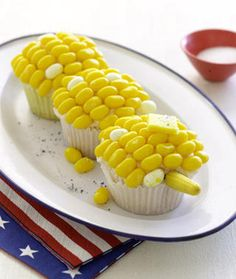 Corn cupcakes! Must make these sometime!!