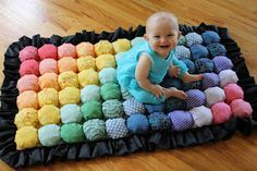 Bubble Quilt - Puff Blanket - Biscuit Quilt - Hope not to be a Grandma for many years, but some day, how sweet is this?!!!!