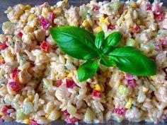 Sałatka z kurczakiem i makaronem ryżowym - Blog z apetytem Fried Rice, Fries, Salads, Vegetables, Cooking, Ethnic Recipes, Blog, Impreza, Kitchen