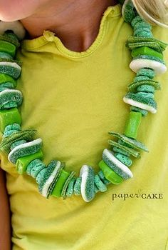 make your own candy necklaces  so cute