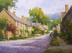 Ian Ramsay Watercolors - Stanton, Gloucestershire, England