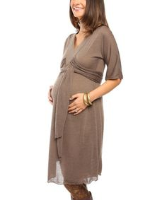 Another great find on #zulily! Mocha Posen Maternity Empire-Waist Dress #zulilyfinds