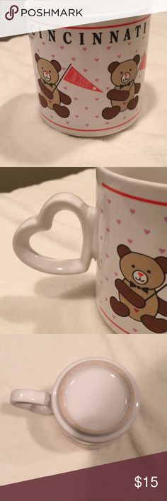 Vintage  I ❤️  Cincinnati Bear 🐻 Coffee Mug This is the cutest mug!!! Great for that cozy day in with coffee or tea and a good book 😊. It is in good vintage condition except for some cracking  in the glaze inside. My home is smoke free I do have pets. PLEASE NO OFFERS BELOW 50% OFF THE ASKING PRICE. 🚫NO TRADES🚫 Thanks for taking a look at my closet. Have any questions please feel free to ask. Host International Other