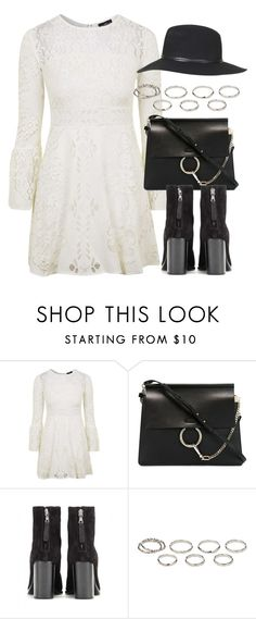"""""""Untitled #6185"""" by laurenmboot ❤ liked on Polyvore featuring Topshop, Chloé, rag & bone and Akira"""