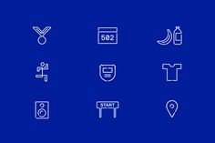 Icons by Perky Bros for Chicago-based independent race design and production company Run Mfg