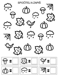 Podzimni hrani Preschool Colors, Free Preschool, Free Math, Kindergarten Math Worksheets, Preschool Activities, Maths, Montessori Math, Lessons For Kids, Kids Education