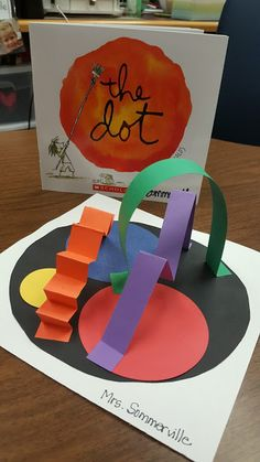 Kindergarten's 3 R's: Respect, Resources and Rants: Dot Day Sculptures