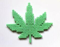 PRO CANNABIS marijuana plant perler fuse bead art by kiddotv, $5.00