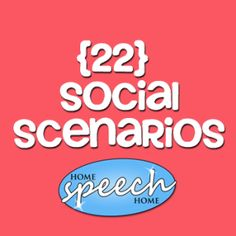 22 Social Scenarios for Speech Therapy Practice. Good for pragmatics / social groups Social Skills Autism, Social Skills Lessons, Social Skills Activities, Teaching Social Skills, Speech Therapy Activities, Life Skills, Autism Activities, Autism Resources, Study Skills