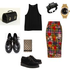 """Vivienne & Fishnets"" by farrahbraniff on Polyvore"