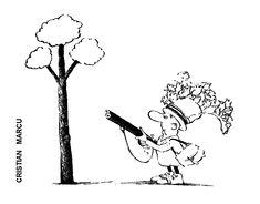 Caricatura de CRISTIAN MARCU, publicata in almanahul PERPETUUM COMIC '97 editat de URZICA, revista de satira si umor din Romania