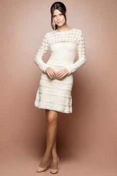 Vestido Crochet Tenerif Off - Vanessa Montoro - vanessamontoro