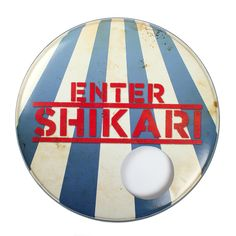 Awesome custom drum skin for ENTER SHIKARI!   Check them out on our site: http://awsmr.ch/DrumSkins