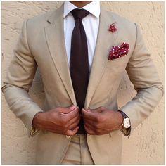 klädkod kostym beige