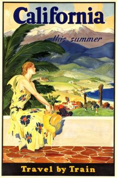 California Travel Poster   1920s/1930s  Print by BloominLuvly