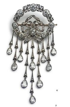 This diamond brooch belonged to Tsarina Maria Feodorovna, she gave it to a family who helped her when she lived in exile in Denmark. Has Also be auctioned.