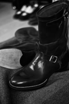 http://chicerman.com  ethandesu:  Engineers  Riccardo Freccia Bestetti makes exceptional shoes Based in Vigevano outside of Milan he creates beautiful bespoke dress shoes with an distinctive eagles beak toe box and fine pegged waist. His dress shoes have the air of an old world orthopaedic shoe tailored to the foot deriving beauty through the function of perfect fit.  What is little known of Riccardo however is his time spent in Texas making cowboy boots and his passion for boots in…