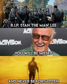 R.I.P. Stan Lee (Stanley Martin Lieber) 12/28/1922 - 11/12/2018
